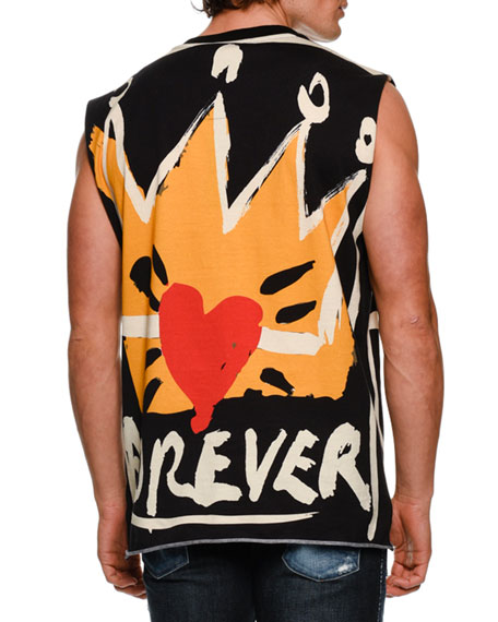 DOLCE & GABBANA Prince Forever Oversized Muscle Tank Top, Yellow