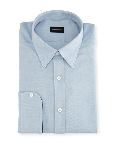 Ermenegildo Zegna Woven Cotton Dress Shirt