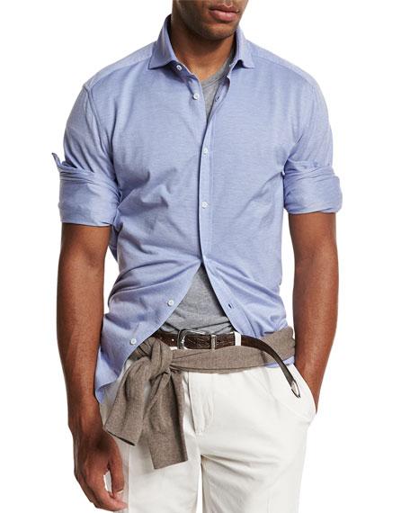 Brunello Cucinelli Piqu?? Knit Sport Shirt