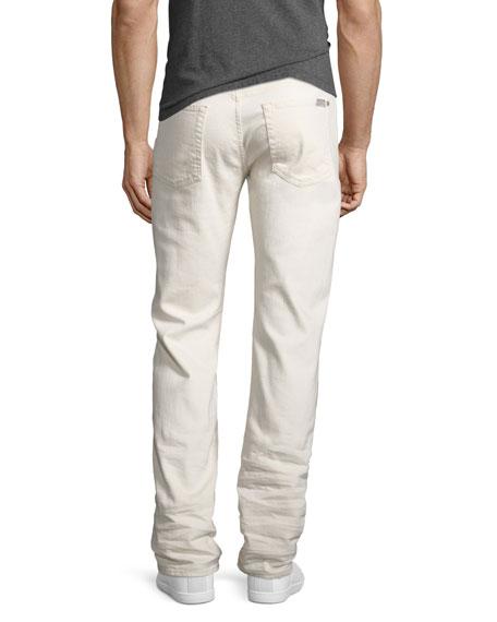 Slimmy Ripped-Repair Slim-Straight Jeans