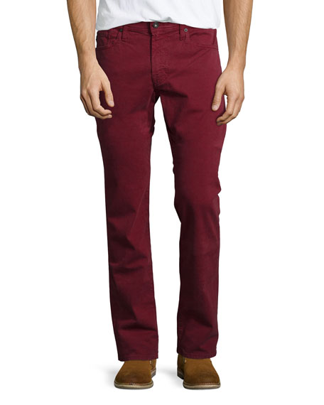 AG Adriano Goldschmied Graduate Cabernet Sud Jeans, Red