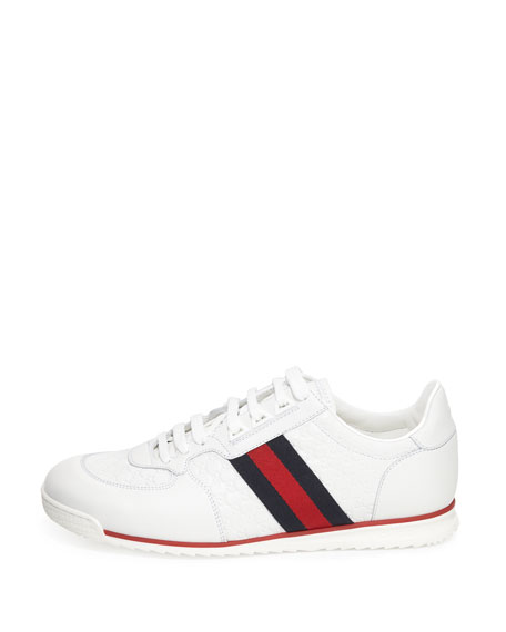 Men's Lace-Up Sneakers with Web Detail