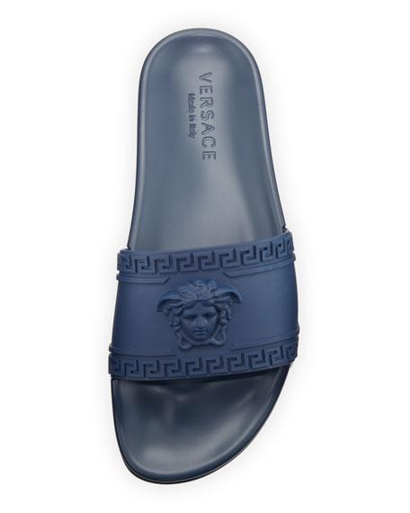 0b86feb31 Versace Men s Medusa   Greek Key Shower Slide Sandal