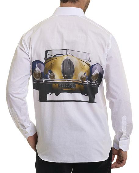 R by Robert Graham Talbot Car-Print Shirt
