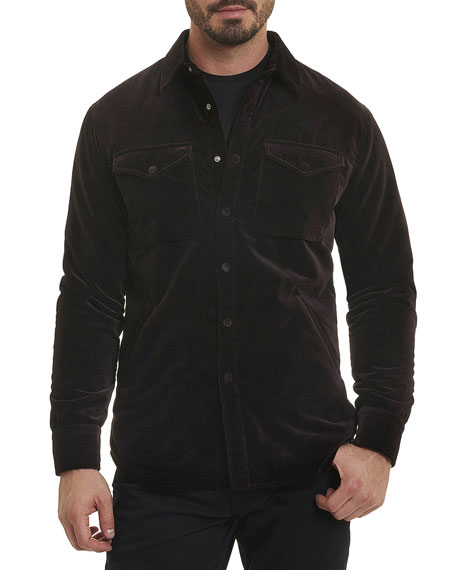 R by Robert Graham Carnaby Corduroy Shirt Jacket