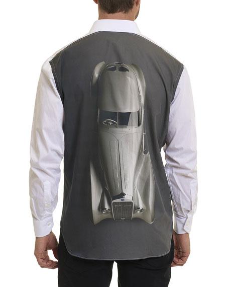 R by Robert Graham Delage High Car-Print Shirt
