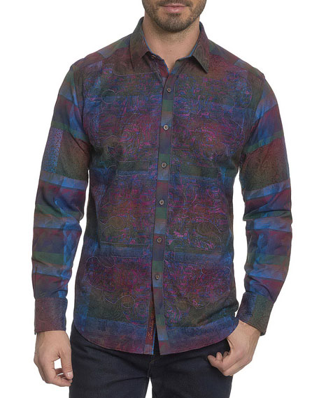 Robert Graham Limited Edition Patchwork Sport Shirt