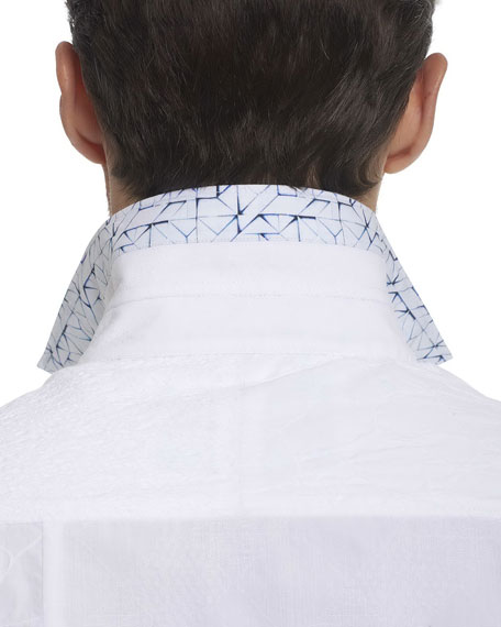 Duke Embroidered Patchwork Cotton Shirt