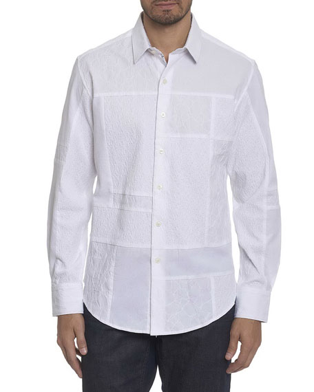Robert Graham Duke Embroidered Patchwork Cotton Shirt