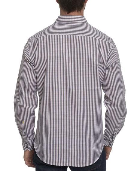 Marion Striped Cotton Sport Shirt