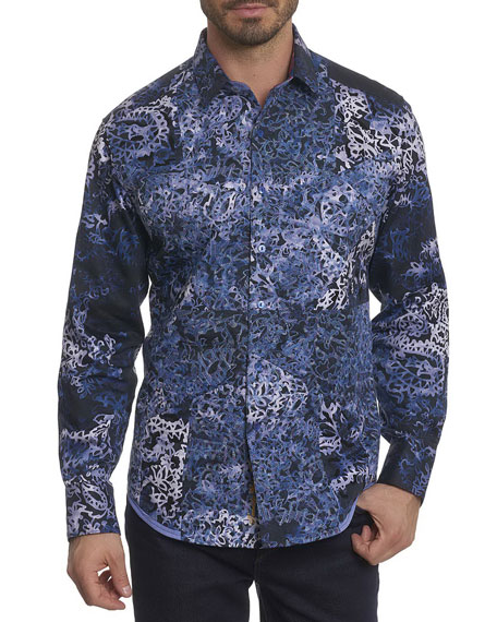 Robert Graham Limited Edition Printed Sport Shirt