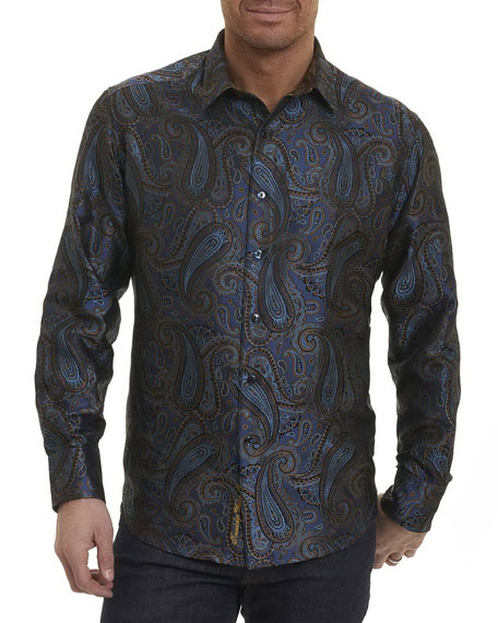 Robert Graham Lake Placid Paisley Silk Shirt