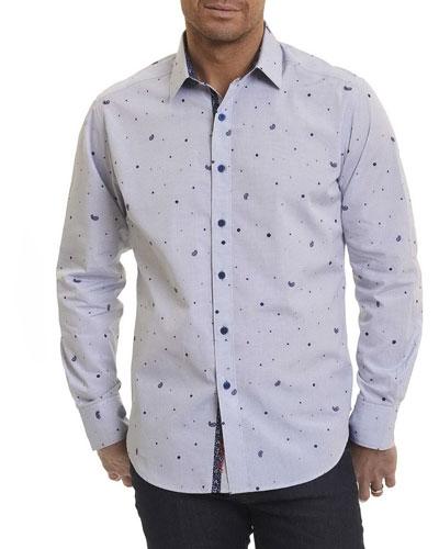Genesee River Paisley Pine Sport Shirt