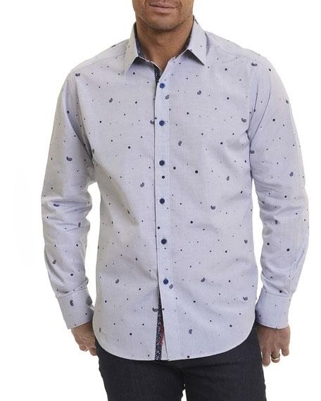 Robert Graham Genesee River Paisley Pine Sport Shirt