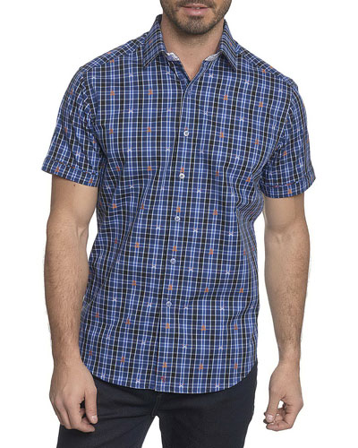 Campfire Plaid Short-Sleeve Shirt