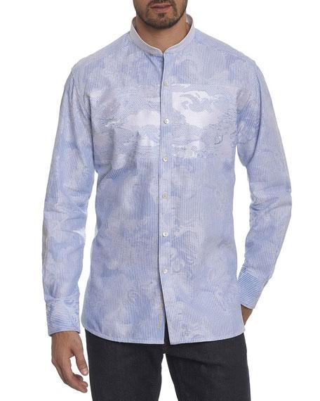 Robert Graham Limited Edition Striped Jacquard Sport Shirt