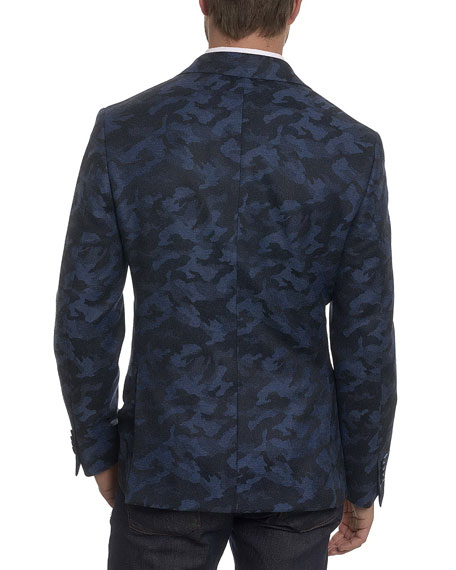 Porthgain Camouflage Wool-Cashmere Jacket