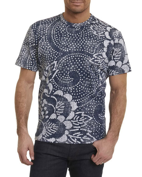 Robert Graham Batik Cotton Crewneck T-Shirt