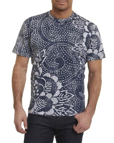 Batik Cotton Crewneck T-Shirt