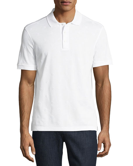 Salvatore Ferragamo Men's Piqu?? Polo Shirt with Floating