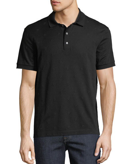 Salvatore Ferragamo Men's Gancio-Embroidered Polo Shirt