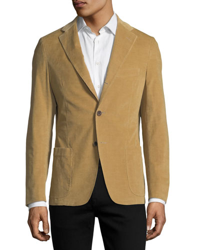 Corduroy Three-Button Sport Jacket