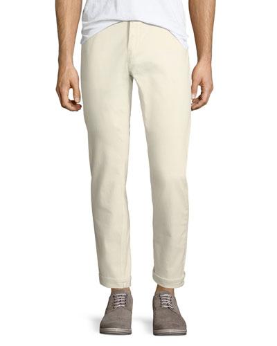 Parker Slim Selvedge Jeans, Ecru