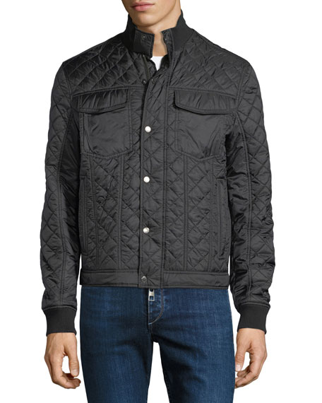 Quilted Hybrid Shirt Jacket