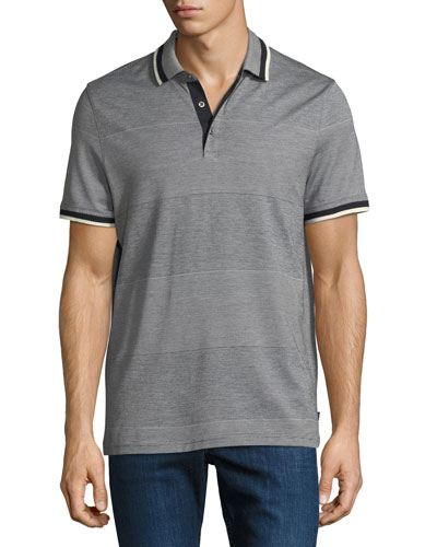 Engineered Birdseye Stripe Polo Shirt