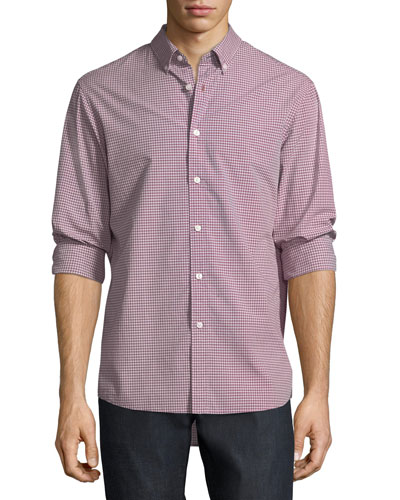 Zane Tailored-Fit Check Cotton Shirt