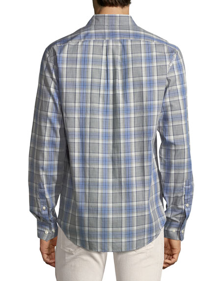 """Jay"" Slim-Fit Check Cotton Shirt"