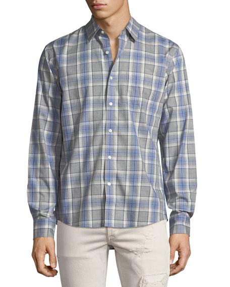 """Jay"" Slim-Fit Check Cotton Shirt"