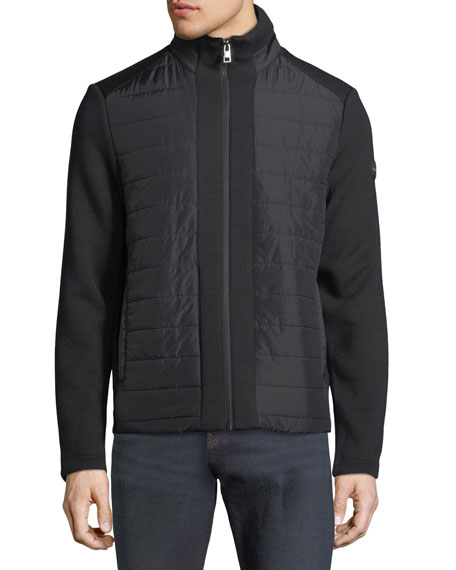 Quilted Zip Jacket with Neoprene Combo