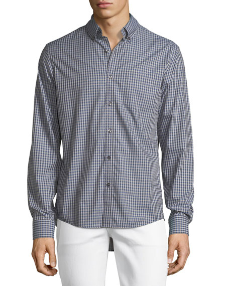 Slim-Fit Check Cotton Oxford Shirt