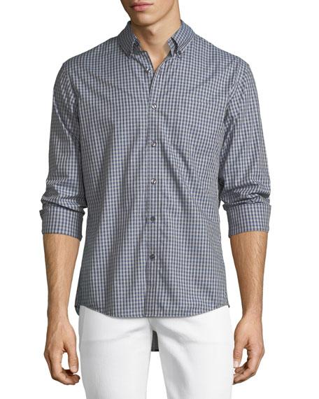Michael Kors Slim-Fit Check Cotton Oxford Shirt
