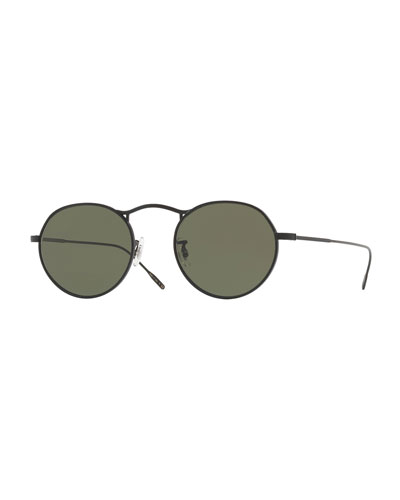M-4 30th Anniversary Round Sunglasses, Black