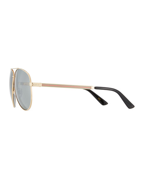 Men's Aviator Sunglasses with Web
