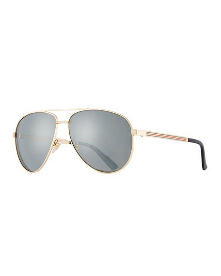 Gucci Men's Aviator Sunglasses with Web