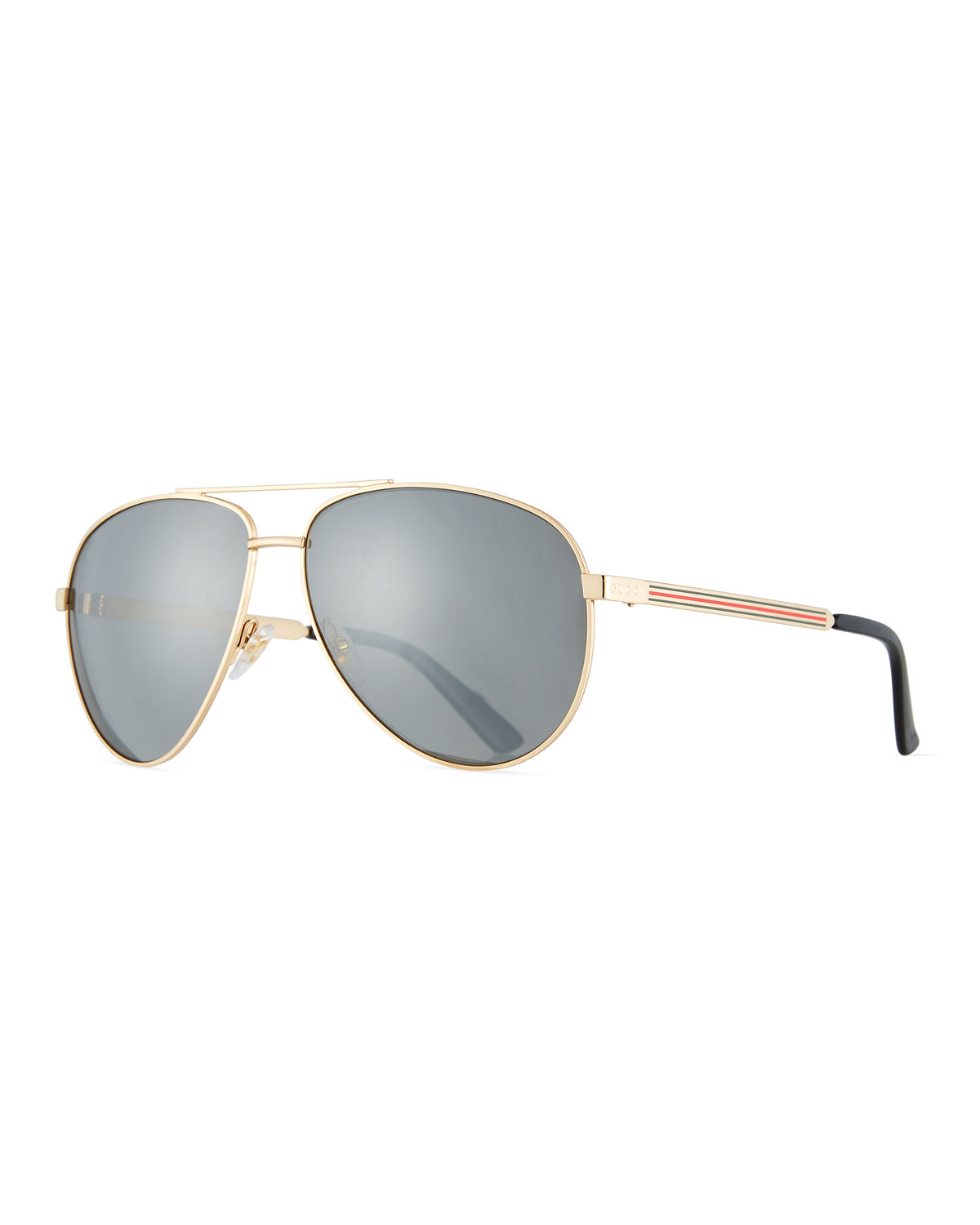 614ee53cd91 Gucci Men s Aviator Sunglasses with Web