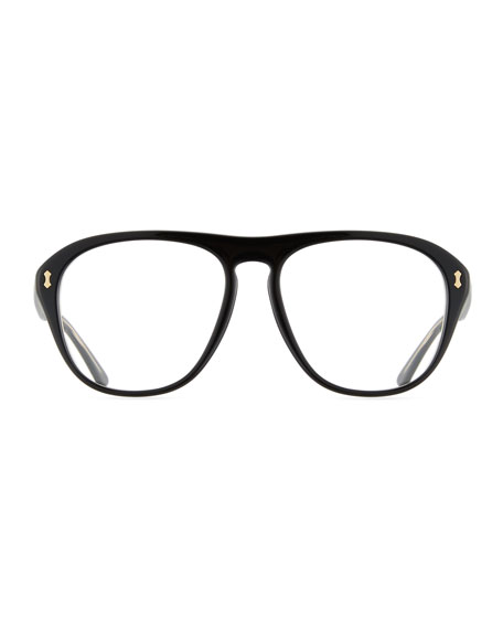 ec390492e3 Gucci Men S Acetate Aviator Optical Frames W Sungles Neiman Marcus