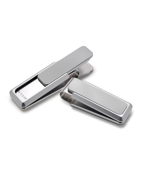 Aluminum-Inlay Stainless Steel Money Clip