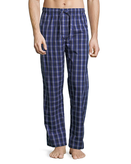 Derek Rose Barker 15 Check Cotton Lounge Pants