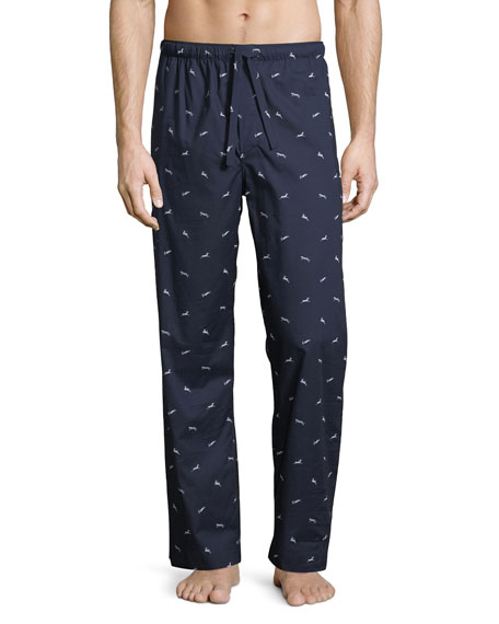 Derek Rose Nelson 61 Animal-Print Pajama Pants