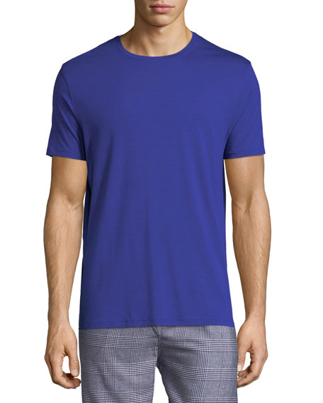 Basel 3 Crewneck Lounge T-Shirt, Blue