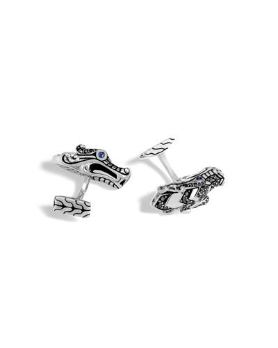Men's Legends Naga Dragon Cuff Links with Spinel