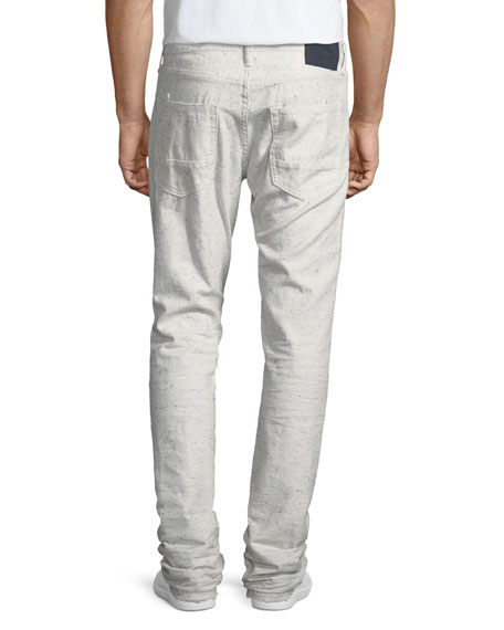 Demon Flecked & Distressed Slim-Straight Jeans