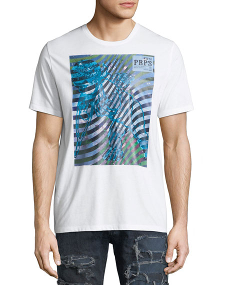 PRPS Wave Graphic Print Logo T-Shirt and Matching