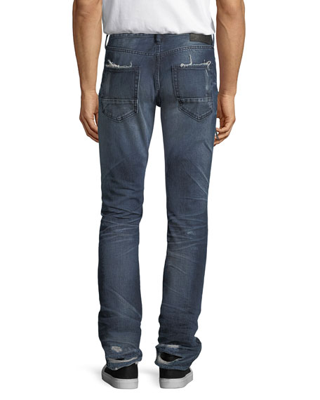 Le Sabre Side-Zip Tapered Jeans