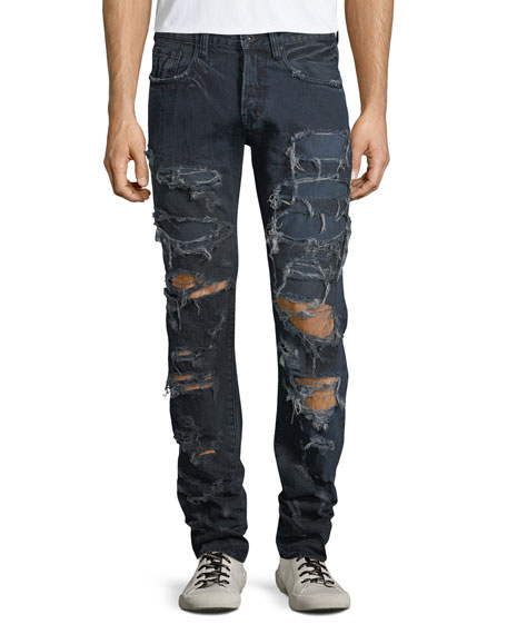 Demon Destroyed Slim-Straight Jeans