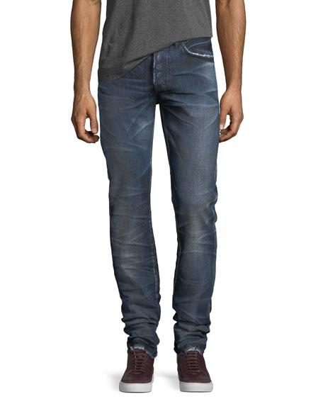 PRPS Demon Distressed Denim Slim-Straight Jeans